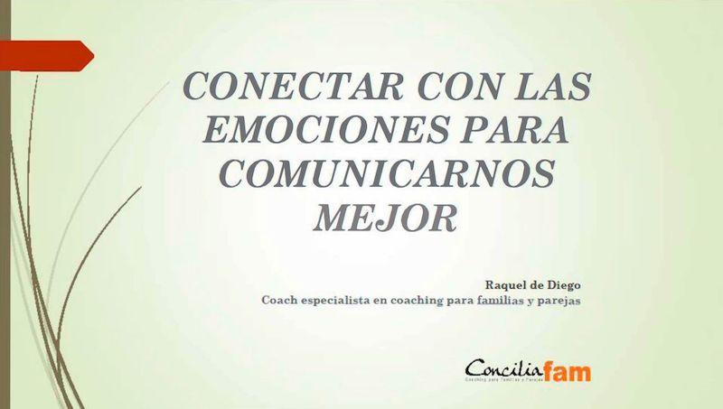 Conectar con las emociones Orientación familiar y en el aula