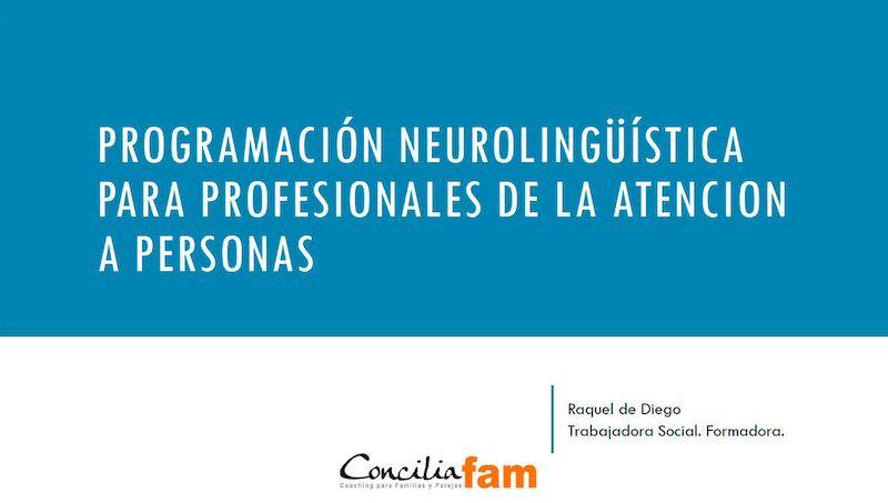 programacion neurolinguistica formacion para profesionales Orientación familiar y en el aula